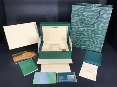 $ CDN94.90 • Buy ♕ROLEX♕ Submariner Oyster Wooden Watch Box Wave Watch Duster & Paperwork Wallet