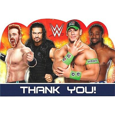 WWE World Wrestling Entertainment Kids Birthday Party Thank You Notes Cards • 5.52£