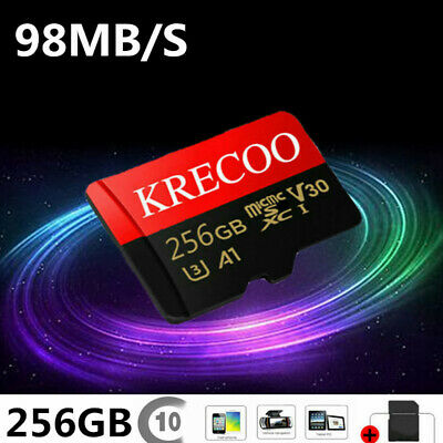 $11.11 • Buy Memory Card Micro TF 256GB Fast Speed Flash For Phone&Camera&Adapter Ultrathin
