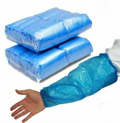 Disposable Plastic Arm Sleeve Cover Blue Cleaning Protective Oversleeve 100 Pack • 7.95£