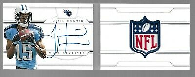 $99.95 • Buy JUSTIN HUNTER 2013 National Treasures Rookie Auto NFL Shield Patch 1/1 Booklet