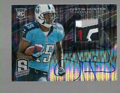 $99.95 • Buy JUSTIN HUNTER 2013 Spectra Rookie Patch Logo Autograph 1/1 Auto Tennessee