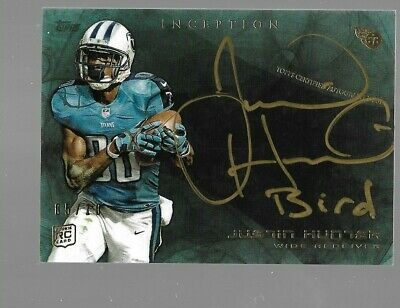 $49.95 • Buy JUSTIN HUNTER 2013 Topps Inception Gold Ink Rookie Autograph 5/10 Tennessee