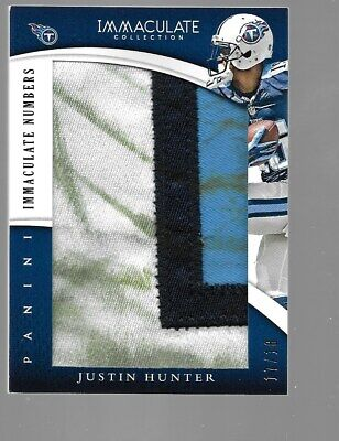 $39.95 • Buy JUSTIN HUNTER 2013 Immaculate Collection Jumbo Dirty Patch 17/18 Tennessee