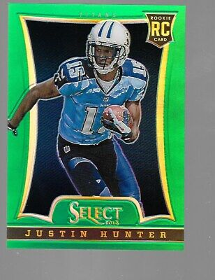 $20 • Buy JUSTIN HUNTER 2013 Panini Select Green Prizm Rookie 6/15 Tennessee