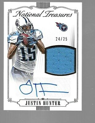 $29.95 • Buy JUSTIN HUNTER 2015 National Treasures Rookie Autograph Jersey 24/25 Tennessee