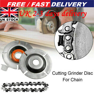 4 Inch Angle Grinder Disc 22 Tooth Chain Saw Blade For Wood Carving Cutting Tool • 6.59£