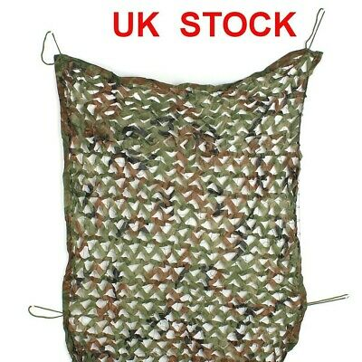 Woodland Camouflage Camo Net Netting Cover Hunting Camping Shooting Hide Outdoor • 8.21£