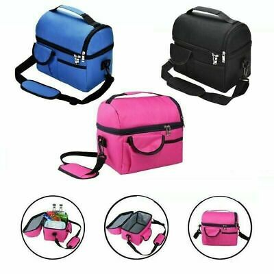 Waterproof Insulated Thermal Cooler Lunch Box Carry Tote Work Case Storage Bag • 8.99£
