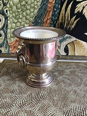 Viners Of Sheffield Silver Plated Urn Lion Handles Vintage • 10£