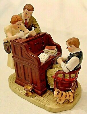$ CDN26.67 • Buy Vintage Norman Rockwell  The Marriage License  Figurine - Gorham 1982 - Retired