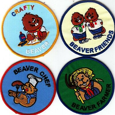 £3 • Buy Boy Scout Badges Embroidered CRAFTY BEAVER + CHEF + FARMER + FRIENDS