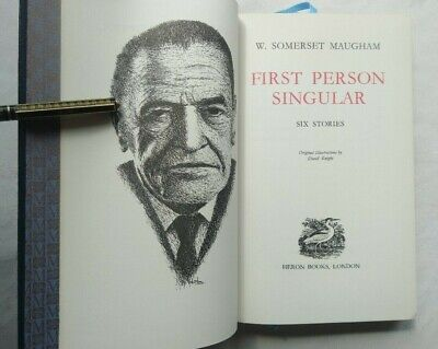 £13.95 • Buy W Somerset Maugham First Person Singular Faux Leather 1968 Ills D Knight Unread