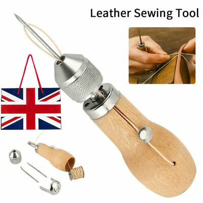 Stiching Speedy Stitcher Sewing Awl Needle Tool Kit For Leather Sail & Canvas X1 • 13.89£
