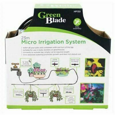 23M Micro Irrigation Watering Kit Automatic Garden Plant Greenhouse Drip System. • 7.90£