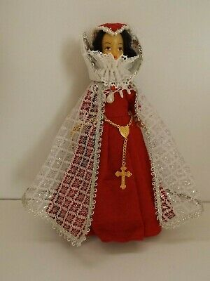 Vintage Costume Doll - Rexard Mary Queen Of Scots In Red Dress • 7.99£