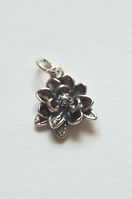 $11.75 • Buy .925 Sterling Silver Southern Magnolia Flower Charm Gift Boxed