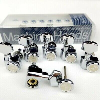 $ CDN55.78 • Buy 6 In Line Locking Guitar Tuners Tuning Pegs Machine Heads For FD ST Tele Chrome