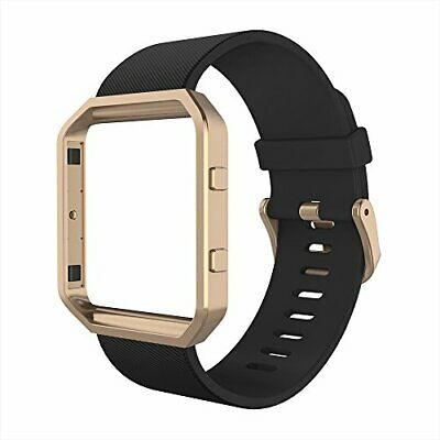 AU55.69 • Buy Bands With Frame Compatible With Fitbit Blaze, Silicone Replacement Band
