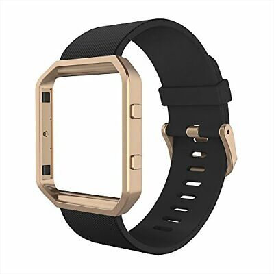 AU57.63 • Buy Bands With Frame Compatible With Fitbit Blaze, Silicone Replacement Band