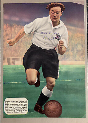 Signed Bedford Jezzard Fulham FC England Football Autograph Poster Mounted • 12.99£