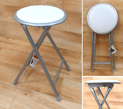 £12.50 • Buy Folding Compact Padded Stool Seating Chair Breakfast Bar Stools Home Office UK