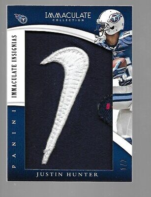$99.95 • Buy JUSTIN HUNTER 2015 Immaculate NIKE Swish Logo Patch #1/2  Tennessee Titans  Vols