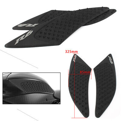 Rubber Traction Side Tank Pad Gas Knee Grip For YAMAHA YZF R1 2007-08 R6 08-12