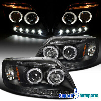 $122.98 • Buy For 1997-2003 Ford F150 Expedition LED Halo Projector Headlights Black
