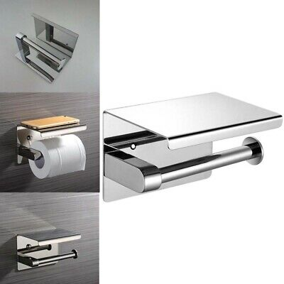 AU20.69 • Buy 304 Stainless Steel Toilet Paper Roll Holder With/without Phone Shelf Polished