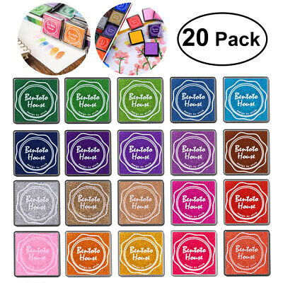 20X Giant Paint Inking Pads Craft Scrapbooking Finger Paint Ink Pad Multi-color • 5.39£