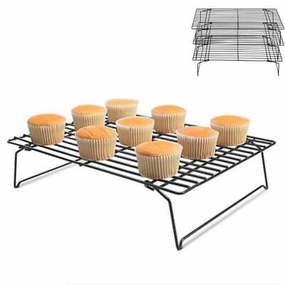 Baking Cooling Cool Tray Rack Metal Wire Cake Biscuit Cookie Drying Net Holder • 8.89£