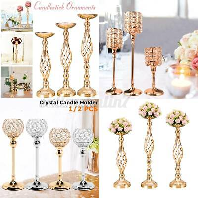 £16.78 • Buy Crystal Candlestick Glass TeaLight Candle Holder Pillar Candelabra Party Wedding
