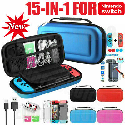AU26.99 • Buy For Nintendo Switch Travel Case Storage Bag +Screen Protector +Cover Accessories