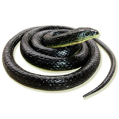 Realistic Fake Rubber Toy Snake Black Fake Snakes 49 Inch Long April Fool's Day • 8.14£