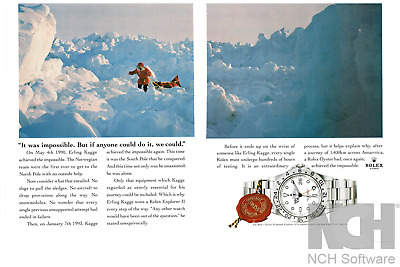 $ CDN12.18 • Buy ROLEX Watch Oyster Explorer II South Pole Original 1995 Print Ad 2 Pages !!