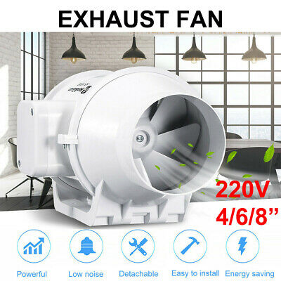 AU60.29 • Buy 4 /6/8  Inch Hydroponic Inline Exhaust Industrial Vent Silent Fan Extractor Duct