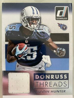 $0.89 • Buy Justin Hunter 2015 Donruss Threads Jersey Patch Tennessee Titans C29