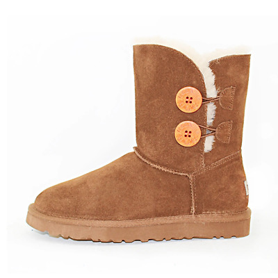 AU69 • Buy Women's Premium Australian Sheepskin Water Resistant Two Button Ugg Boot - Chest