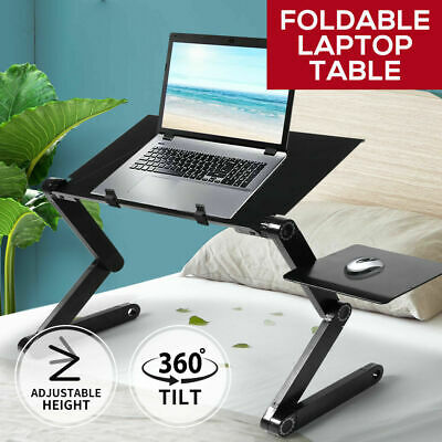 AU33.99 • Buy Adjustable Laptop Stand Ergonomic Fan Computer Notebook Tablet Desk AU Stock