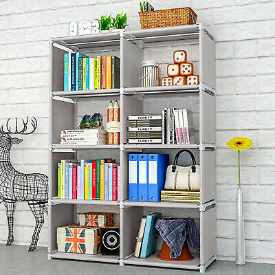 AU52.19 • Buy 8 Cube Bookcase Book Shelf Storage Cube DIY Combination Ladder Stand Rack
