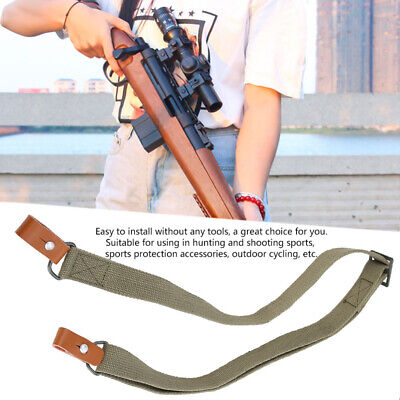 $ CDN11.80 • Buy Tactical Double 2 Point Rifle Sling Shoulder Strap Bungee For Gun Sling Outdoor