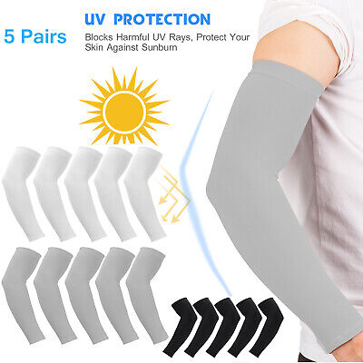 5 Pairs Cooling Arm Sleeves Cover Basketball Golf Sport UV Sun Protection Men UK • 7.99£