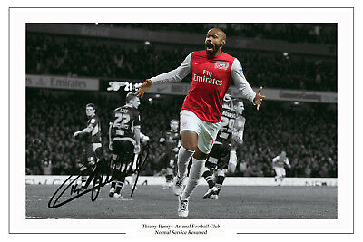 £18.99 • Buy THIERRY HENRY Signed Autograph PHOTO Signature Print ARSENAL 18X12 Poster