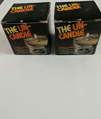 Set Of 2-Vintage The UN-CANDLE #138 By Pyrex 1970's Floating Oil Candle Orig Box • 13.47£