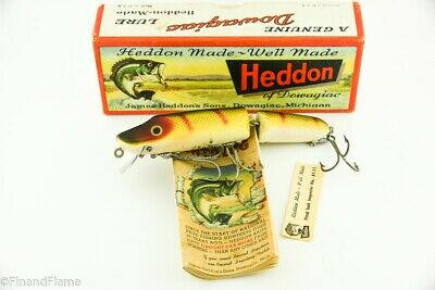 $ CDN58.42 • Buy Vintage Heddon Jointed Vamp Minnow Antique Fishing Lure With Box & Papers JJ8