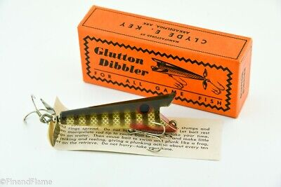 $ CDN36.54 • Buy Vintage Glutton Dibbler Antique Fishing Lure EX In Box With Papers JJ42