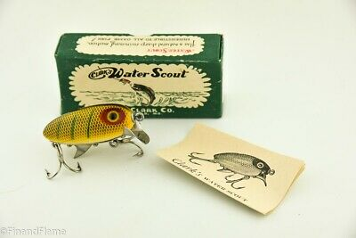 $ CDN96.09 • Buy Vintage Clark Water Scout Antique Fishing Lure EX In Box With Papers JJ43