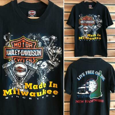 $ CDN26.11 • Buy EUC VTG 90s Harley-Davidson Milwaukee Engine SINGLE STITCH T Shirt M