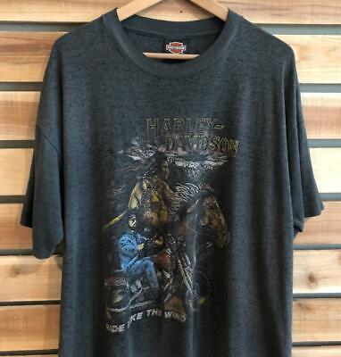 $ CDN58.19 • Buy VTG 80s Harley-Davidson THIN Distressed Ride Like Wind SINGLE STITCH T Shirt XL